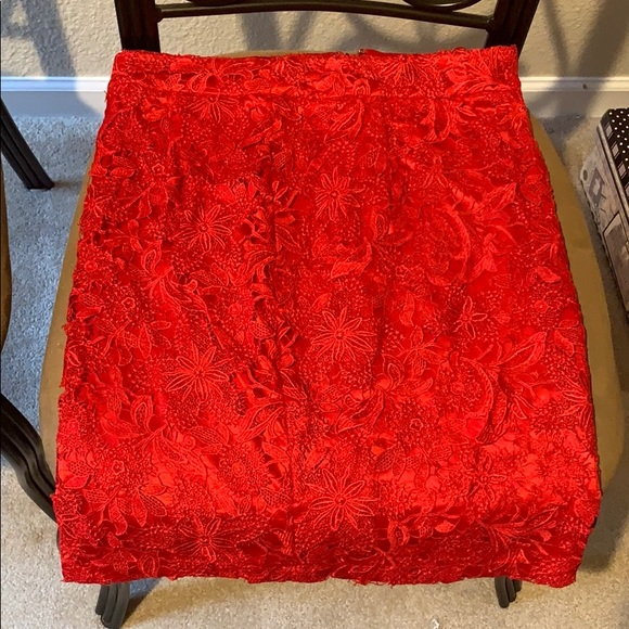 C. Luce Dresses & Skirts - Red lace skirt